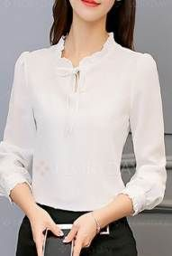 Swans Style is the top online fashion store for women. Fall Fashion Outfits, Fashion Dresses, Womens Fashion, Blouse Styles, Blouse Designs, Classy Outfits, Casual Outfits, Korean Blouse, Designs For Dresses