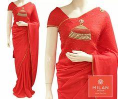 Designer Sarees Collection, Saree Collection, Kerala Saree, Indian Sarees, Beautiful Saree, Beautiful Outfits, Blouse Patterns, Blouse Designs, Saree Designs Party Wear