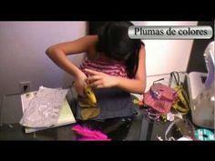 """Ideas para reciclar pantalones """"Bolso para niñas"""" - YouTube"""