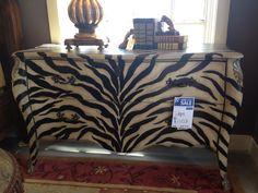 Zebra dresser Animal Print Furniture, Animal Print Rug, Repurposed, Ottoman, Rugs, Chair, Table, Crafts, Ornaments