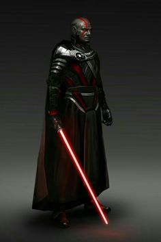 Darth Bane, progenitor of the Rule of Two, that would go on to end the infighting and secure a legacy of revenge for the Sith. Sith Armor, Jedi Sith, Sith Lord, Star Wars Characters Pictures, Star Wars Images, Star Wars Sith, Star Wars Rpg, Darth Bane, Sabre Laser