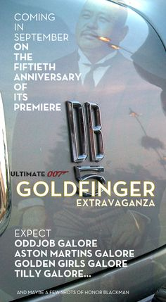 From the old Tumblr ULTIMATE 007 site. Inexplicably, Tumblr pulled the plug on ULTIMATE 007, 1000 James Bond Books, the Movie Posters collection and both my Honeypot Designs blogs just after the Goldfinger fiftieth anniversary extravaganza. They never did explain why. Bastards.
