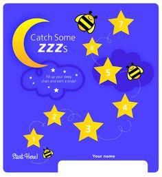 Free Printable Sleep Chart for Toddlers http://www.familylifeinlv.com/2014/03/establishing-a-sleep-routine-for-kids.html #FreePrintable