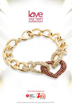 We love the curb link chain and pave set crystals in this bracelet from our 2015 Love Your Heart Collection!