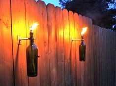 Glass Bottle Torch   Craft projects for every fan!