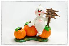 Casper the Ghost Halloween Polymer Clay Decoration por AngelsNook