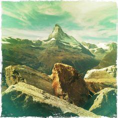 The Swiss magic mountain from Sunnegga above Zermatt.