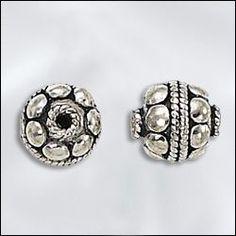 SS/3068/8 | Sterling Silver - 8mm Bali Bead