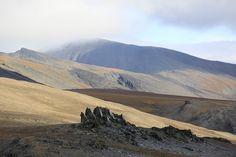 Rocky Outcrops Arctic Autumn Tundra Landscape Wrangel Island UNESCO World Heritage Site Russia