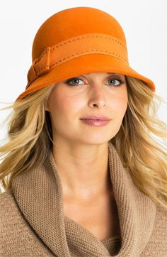Nordstrom Contrast Stitch Cloche available at #Nordstrom So cute hat, need buy!