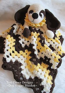 Ravelry: Dog Huggy Blanket pattern by Teri Crews Crochet Security Blanket, Crochet Lovey, Manta Crochet, Crochet Blanket Patterns, Baby Blanket Crochet, Baby Patterns, Free Crochet, Lovey Blanket, Afghan Crochet