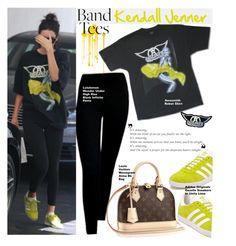 """Kendall Jenner is with Aerosmith band"" by swweetalexutza ❤ liked on Polyvore featuring kendalljenner, aerosmith and ImWithTheBand"