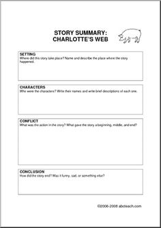 "I could use this worksheet with students as we read ""Charlotte's Web."" The students will get in their lit cirlces and work together to complete their worksheet."