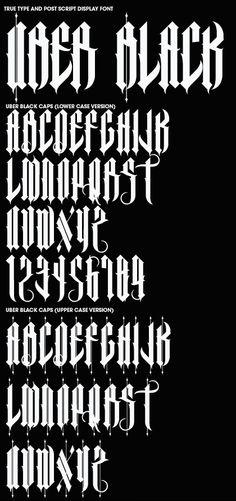Font Creation V.2 by Joshua M. Smith, via Behance
