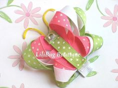 LiliBug Spring Butterfly Hair Clippie by LiliBugBoutique on Etsy, $6.50
