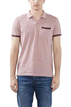 Esprit Casual T-shirt i bomullspiké, slim fit