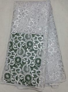 FREE SHIPPING 5Yards Guipure Lace Fabric Cutouts African Chemical Lace Water Soluble African Lace High Quality Vintage Textile