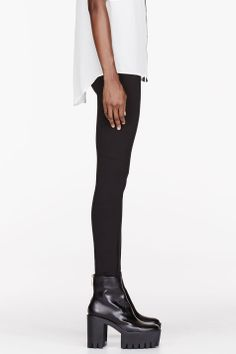 MARC BY MARC JACOBS Black paneled Dresden Leggings