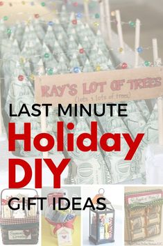 Last minute holiday DIY gift ideas for Christmas. Perfect Christmas ideas for the people on your list.