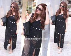 Kareena Kapoor Khan was spotted outside a salon in Mumbai wearing a slip dress by Masaba Gupta. India Fashion, Fashion Women, Fashion Beauty, Women's Fashion, Fashion Design, Fashion Trends, Day Dresses, Short Dresses, Indian Suits