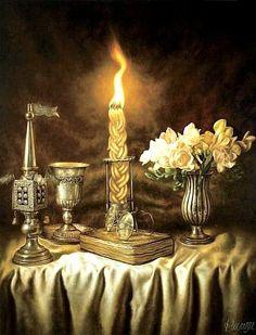Shavua Tov, Shabbat Candlesticks, Arte Judaica, Jewish Synagogue, Jewish Celebrations, Messianic Judaism, Shabbat Shalom, Jewish Art, Menorah