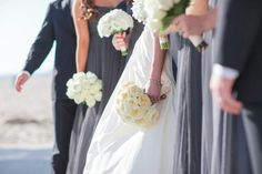 Bridal Bouquet - Santa Monica Wedding http://caratsandcake.com/thegordons