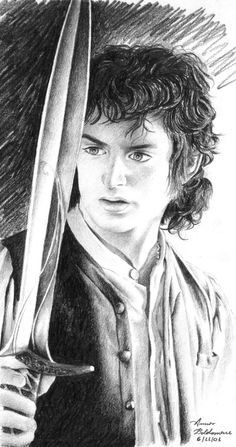 Frodo Portrait by Anna Baldassarre ~ LOTR