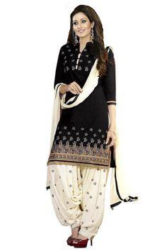 b2c1fd6bbd LadyIndia.com #Unstitched Suit, Poly Cotton Salwar Suit Dress Material, Unstitched  Suit