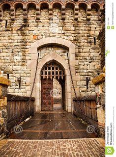 Drawbridge To Castle Door Stock Photo - Image: 22811580