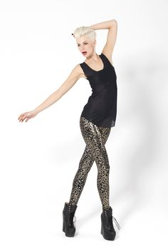 Jungle Cat Leggings by Black Milk Clothing