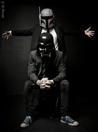 Tattooed guys in suits and Star Wars helmets...oh my!!