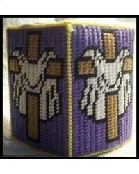 Easter Cross Tissue Box Cover