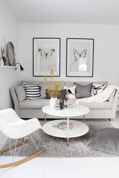 50 Living Room Designs for Small Spaces | Beige sofa