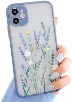 Ownest Compatible with iPhone 12 Case [Not fit iPhone 12 Pro 6.1''] for Clear Frosted PC Back 3D Floral Girls Woman and Soft TPU Bumper Silicone Slim Shockproof Case for iPhone 12 6.1''-Purple