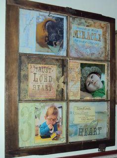 old window ideas   Old Vintage Window ~ Scrapbook Page Display   Creative ideas