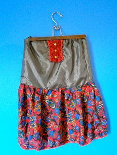 Strapless handmade red and gray dress by DanielleSeevers on Etsy, $15.00