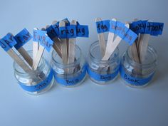 Rhyming Jars - novel idea for helping children's reading through rhyming words