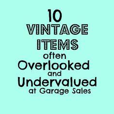 Adirondack Girl @ Heart: 10 Vintage Items Often Overlooked & Undervalued at Garage Sales