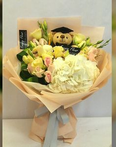 Big Bounty Beautiful. Happy graduation bouquet. Instagram @frenzyfleur. To order whatsapp +6017-2691079