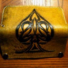Tribal spade wallet