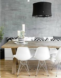 You must see this marvelous dining table to help you improve your house decor! Casa Santa Rita, Interior Design Living Room, Interior Decorating, Decoration Gris, Sweet Home, Deco Design, Dining Room Design, Room Inspiration, Inspiration Design
