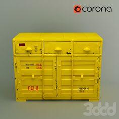 Желтый комод