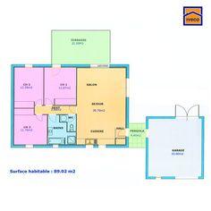 plan maison plain pied 3 chambres - Plan Maison De Plain Pied 3 Chambres