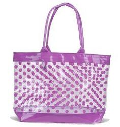 Clear Tote Bag with Polka Dots