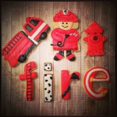 Fireman / Firefighter Cookies - Truffle Pop Shoppe | Cookie Connection