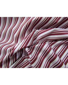 Blue tooItalian Stripe Shirting- Milano Maroon - $9.95