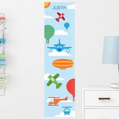 Dinosaurs Growth Chart Decal Wall Height Chart Decal Height