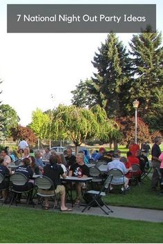 7 fun ideas for making your National Night Out party memorable. Learn more about… Neighborhood Party, Neighborhood Watch, Ontario California, Fun Ideas, Party Ideas, Party Party, Night Out Outfit, Throw A Party, Summer Events