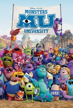 Remember last month when I attended Monsters University up at Pixar Animation Studios and took all those intensive courses? Well I just got an alumni notice for a special Monsters University Class Monster University, University College, Mike E Sulley, Mike Wazowski, Movies Showing, Movies And Tv Shows, Film Pixar, Disney Pixar Movies, Disney Movie Posters