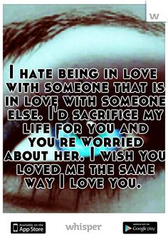 I used to feel that way, now I have a friend in that situation and i'm trying everything i can to help her. Quotes For Your Crush, Secret Crush Quotes, Quotes To Live By, Sad Quotes, Words Quotes, Life Quotes, Sayings, Complicated Quotes, Depression Love